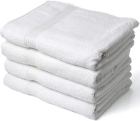 Squeeze Cotton Bath Towel Squeeze White Cotton Bath Towel Set Of 4, White