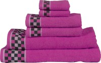 Vintana Cotton Bath, Hand & Face Towel Set Bath Towel Set, Multicolor