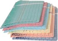 Tks Brand Cotton Bath Towel Set 6 Bath Towels, Green, Blue, Gray, White, Yellow, White