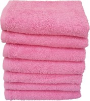 Divine Overseas Cotton Hand Towel Set 7 Pieces Premium Hand Towel, Pink