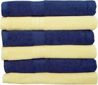 Rakshan Cotton Bath Towel Set (Pack Of Towel 6, Blue, Skin)