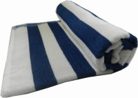 S.R.Rathi Textiles Cotton Pool/Beach Towel 1 Bath Towel, White, Blue