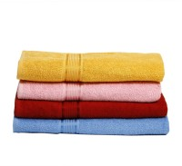 Calico Touch Cotton Set Of Towels Set Of 4 Large Bath Towels, Multicolor