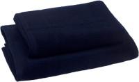 Skumars Love Touch Cotton Bath Towel Set 1 Ladies Bath Towel, 1 Gents Bath Towel, Navy Blue