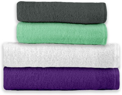 Story @ Home Cotton Bath & Hand Towel Set 2 Bath Towel, 2 Hand Towel, Multicolor