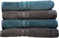Rakshan Cotton Bath Towel Set (Pack Of Towel 4, Blue, Grey)