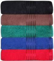 GRJ INDIA Cotton Bath Towel Set Of 5 Bath Towels, Multicolor - BTWEDP4MAHR5D8ZN