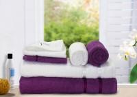 Story@home Cotton Bath, Hand & Face Towel Set 2 Pc Bath Towel, 2 Hand Towel, 2 Face Towel, White