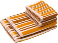 Skumars Love Touch Cotton Bath & Hand Towel Set 2 Bath Towels And 2 Hand Towels, Yellow