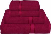 RR Textile House Cotton Bath, Hand & Face Towel Set Ladies Towel 1, Bath Towel 2, Hand Towel, Maroon