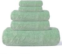 Cortina Cotton Bath, Hand & Face Towel Set 1 Towel, 2 Face Towel, 2 Hand Towel, Light Green