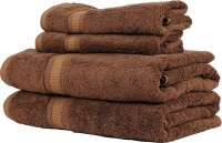 Trident Organica Cotton Set Of Towels, Bath & Hand Towel Set 2 Bath Towel, 2 Hand Towel, Brown