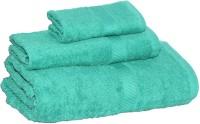 Welhome Cotton Set Of Towels, Bath Towel, Hand Towel, Face Towel Bath Towel, Hand Towel, Face Towel, Green