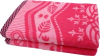 Mandhania Cotton Set Of Towels 2 Bath Towels, Pink