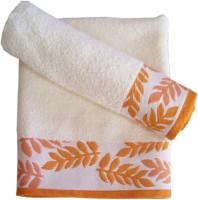 Amber Cotton Bath Towel Set Of 2 Pieces, Orange