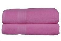 GRJ INDIA Cotton Bath Towel Set Of 2 Bath Towels, Pink