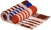 ShopSince Cotton Bath Towel Stripes Cotton Bath Towel - Set Of 3 Multicolor, Multicolor