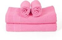 Cortina Cotton Bath & Hand Towel Set 2PC Hand Towel Set, 2PC Bath Towel Set, Pink