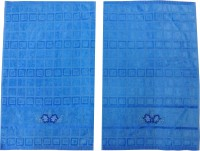 Kairan Jaipur Cotton Bath & Face Towel Set Bath Towel, Face Towel, Blue