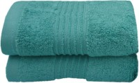Divine Overseas Cotton Hand Towel Set 2 Piece Premium Hand Towel Set, Green