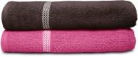 Swiss Republic Cotton Bath Towel (2 Bath Towels, Dark Grey, Dark Pink)