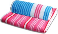 JBG Home Store Stripes Cotton Bath Towel (2 Bath Towels, Multicolor)