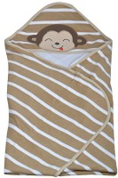 Woosh Baby Cotton Bath Towel (1 Bath Towel, Brown White)