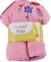 MicroCotton Petal Baby Pink Baby Hood Cotton Bath Towel (Bath Towel, Pink)