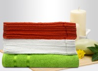 Story@home Cotton Bath & Face Towel Set 10 Pc Face Towel + 10 Pc Face Towel + 1 Pc Bath Towel, Orange