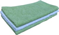 Geo Nature Cotton Hand Towel Set 1 Hand Towel, 2 Green Hand Towels, Multicolor