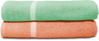 Swiss Republic Cotton Bath Towel (2 Bath Towels, Light Green, Light Pink)