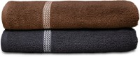 Swiss Republic Cotton Bath Towel (2 Bath Towels, Dark Brown, Dark Grey)