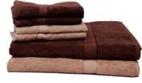 The Home Story Cotton Bath & Hand Towel Set 2 Bath Towels 30x60 Inches, 4 Hand Towels 16x24 Inches., Brown
