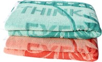 Mandhania Terry Cotton Bath Towel (2 Bath Towels, Multicolor)