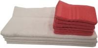 Valtellina Cotton Hand & Face Towel Set 6 Face Towels, 4 Face Towels, White