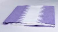 Sathya Turkish Cotton Bath Towel (1 Bath Towel, Lavender, White)