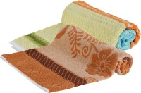 Goodway Stripes Cotton Bath Towel (Pack Of 2 Bath Towel, Green, Brown)