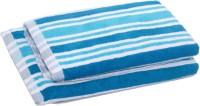 Skumars Love Touch Cotton Bath Towel Set 1 Ladies Bath Towel, 1 Gents Bath Towel, Turquoise Blue