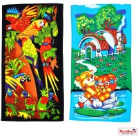 Mandhania Cotton Bath Towel Pack Of 2 Kids Bath Towels, Multicolor - BTWEMB29QBWWGP5H