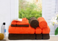 Story@home Cotton Bath, Hand & Face Towel Set 2 Pc Bath Towel, 2 Hand Towel, 2 Face Towel, Brown