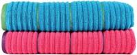 Casa Copenhagen Solid Ribbed Zero Twist Honey Suckle & Hwain Ocean Bath Towel Set (2 Bath Towel, Pink, Blue)