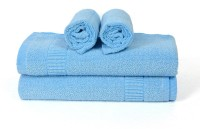 Cortina Cotton Bath & Hand Towel Set 2PC Hand Towel Set, 2PC Bath Towel Set, Blue