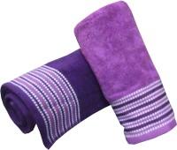 Satcap Cotton Set Of Towels 2 Bath Towels, Purple, Pink