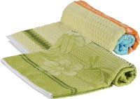 Goodway Stripes Cotton Bath Towel (Pack Of 2 Bath Towel, Green)
