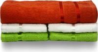 Story@home Cotton Bath & Hand Towel Set 1 Pc Bath Towel + 2 Pc Hand Towel + 2 Pc Hand Towel, Orange