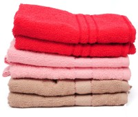 The Home Story Red, Pink, Brown Set Of 6 Napkins - NAPEBGHYMRXXXHRH