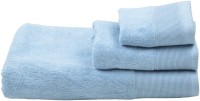 Homeway Cotton Bath, Hand & Face Towel Set Bath, Hand & Face Towel Set, Light Blue