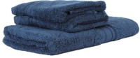 Earthrosystem Classic Cotton Bath & Hand Towel Set 1 Bath Towel And 2 Hand Towel, Blue