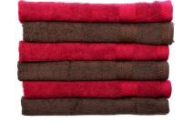 Rakshan Cotton Bath Towel Set (Pack Of Towel 4, Red, Brown)