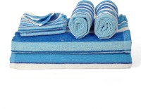 Cortina Cotton Bath, Hand & Face Towel Set 2PC Hand Towel Set, 2PC Bath Towel Set, 2PC Face Towel Set, Blue
